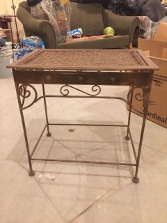 Metal and wicker table