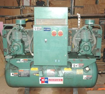 CHAMPION HR3D-8 HORIZONTAL COMPRESSOR DUAL HEAD 3HP MOTORS