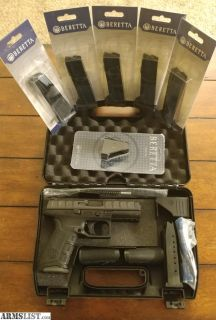 For Sale: NEW: Beretta APX + Extras