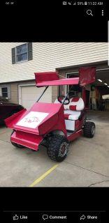 Custom razorback sprint car golf cart