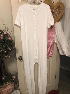 LONG JOHNS/JAMMIES 100% COTTON TRAP DOOR IN BACK TAG SAYS 2XL