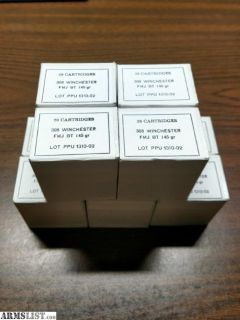 For Sale: 308 Winchester/7.62x51 Brass Cased Ammo