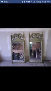 Pair of Mid-Century Mirrors