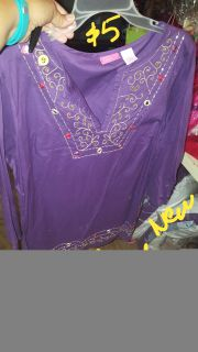 New purple large top shirt