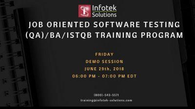 Job Oriented DEMO SESSION : Software testing/ QA/ BA/ISTQB CERTIFICATION