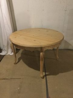 Natural Finish Round table