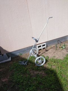 Vintage metal golf cart