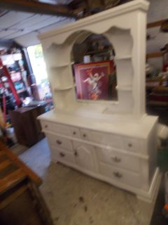 Vaughn Bassett Dresser w/ Large Mirror and Light