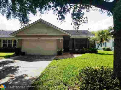 1437 NW 97th Ter CORAL SPRINGS Three BR, lovely one story pool