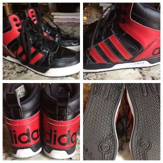 Men s sz 8 leather Adidas sneakers