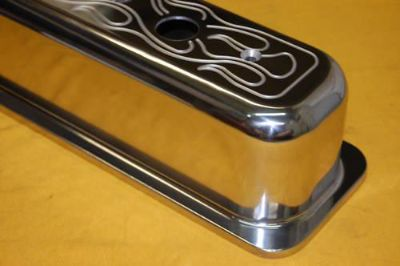 Purchase SBC Tall Valve Covers Flamed Aluminum Vortec Small Block Chevy Polished motorcycle in Columbus, Georgia, US, for US $81.95