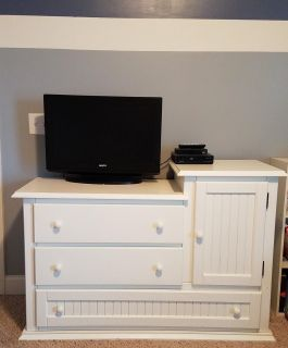 White Wood Dresser and/or Changing Table!