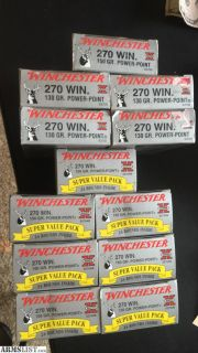 For Sale/Trade: 268 rounds of 270 win