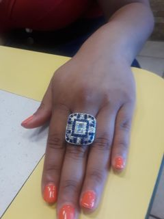 9.25 and Saphires ring 8