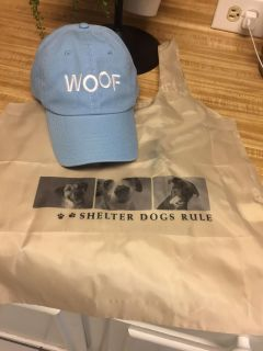 For the Dog Lover never Used Cotton Baseball Cap & Polyester Reusable Grocery Bag