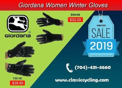 Women Apparel - Giordana Winter Gloves | Classic Cycling