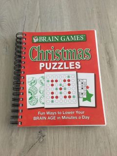 New Paperback Brain Games Christmas Puzzles