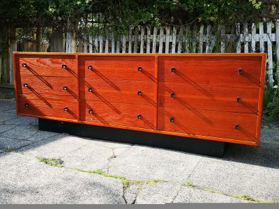 Mid Century Modern Nine Drawer Dresser