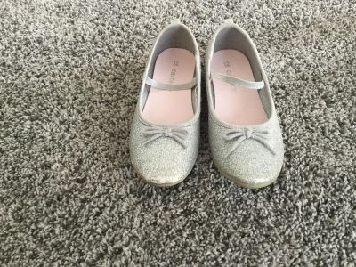 Carter s Silver Sparkly Flats