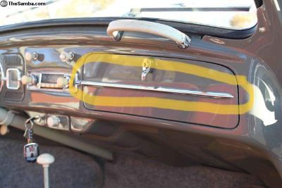 Looking for glovebox door chrome trim for 65