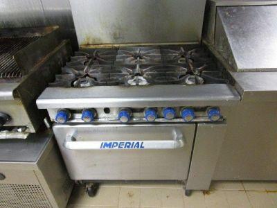 Imperial IR-6 Gas 6 Burner Range Oven w/ Rack RTR# 8103564-09