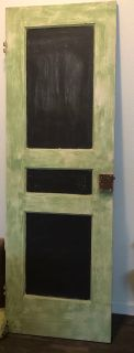 Vintage Distressed Farmhouse Door with Chalkboard