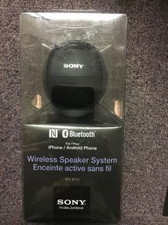 Brand new Sony Bluetooth wireless speaker system for iPhones and Androids