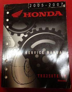 Buy Honda Service Manual TRX250TE/TM 2005-2007 Model Years Used 08 09 10 11 12 13 motorcycle in Oak Creek, Wisconsin, United States, for US $20.00