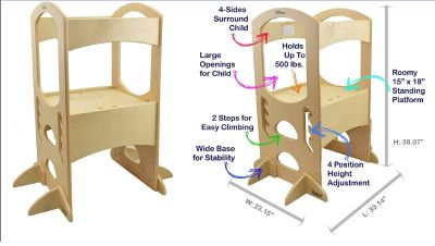 Kids' Tower. Solid Wood