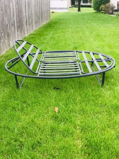 Outdoor lounge metal frame