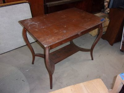 Art Deco Style Library Table With Drawer