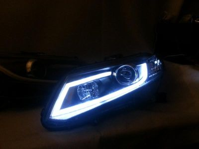 Find 12-13 HONDA CIVIC R8 STYLE LED PROJECTOR HEADLIGHT BLACK HOUSING motorcycle in Upland, California, US, for US $190.00