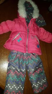London Fog Winter Jacket, Snow pants, and Hat