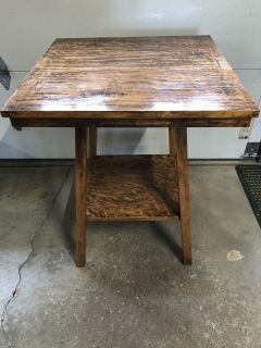 Antique Wood Table (24x24in.)