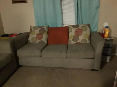 Grey fabric couch set