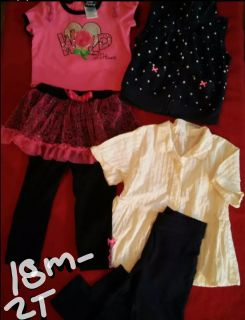 Baby girls size 18 month to 2T clothing bundle