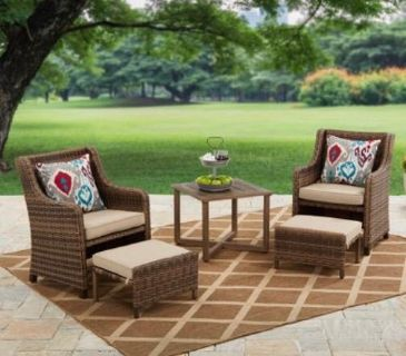 Outdoor set all new in a box except for 1chair is assembked