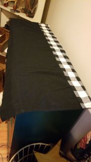 Set of six black and white valances 36wx16l great for a camper