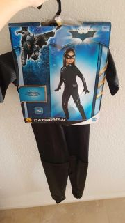 Catwoman kid costume size S (4-6) for 3-4 years old