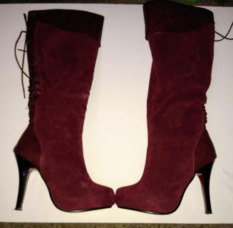 Pick up now! $15 Women's size 5 1/2 Refresh brand maroon suede stiletto boots