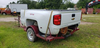 2018 Chevy Dually Bed (White), Tailgate, Rear Bumper, Receiver Hitch & Wiring Harness