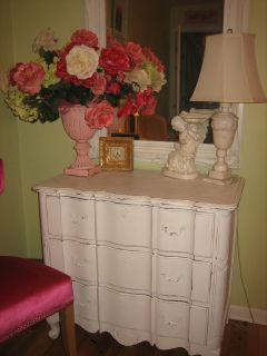 shabby chic serpentine french dresser / chest of drawers