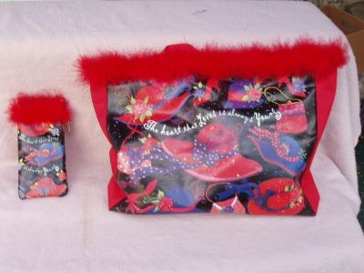 Red Hat Society Tote and matching Sunglass Case
