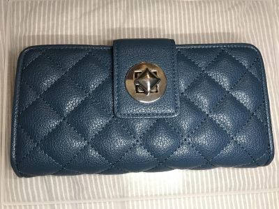 Brand new navy quilted wallet