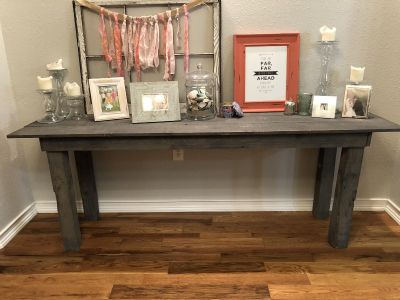 Gray entry or Sofa table