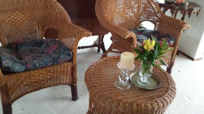 Vintage wicker patio set 1940's
