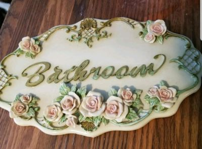 Shabby Chic plaque it can be repainted or leave as is.