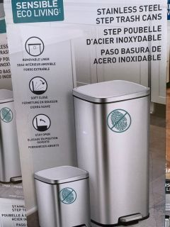 Stainless steel trash cans step pedal 2 pack new in box