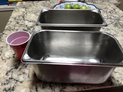 Stainless steel kitchen tubs/containers - heavy duty