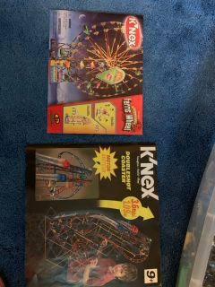 K NEX Doubleshot coaster and Ferris wheel